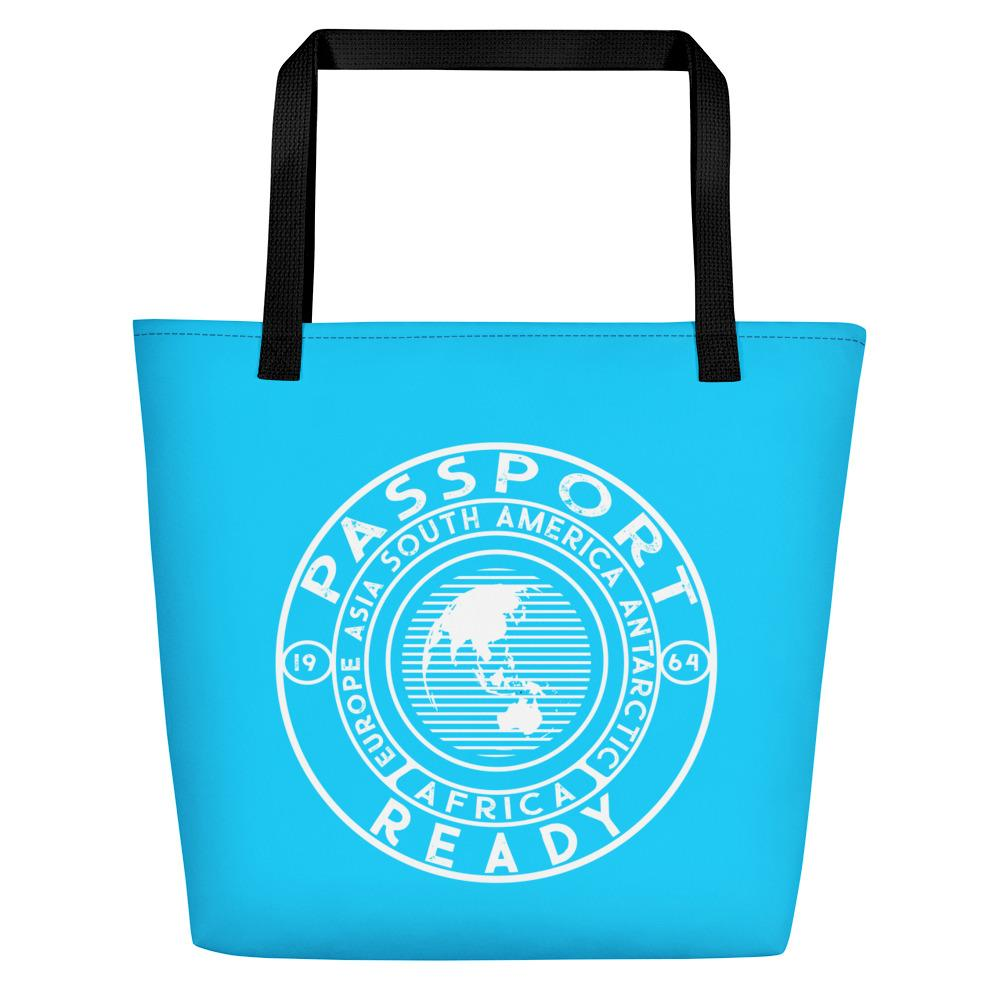 Passport Ready Beach Bag Sky Blue