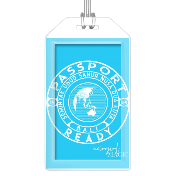 Passport Ready Bali Luggage Tags Sky Blue