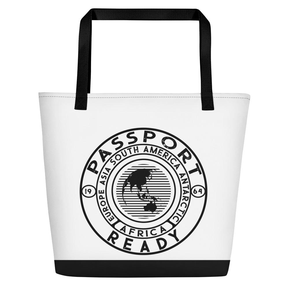Passport Ready Beach Bag White