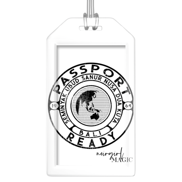 Passport Ready Bali Luggage Tags White