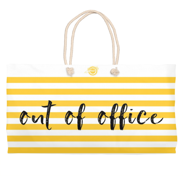 Noir Girl Magic Out Of Office Weekender Tote- Yellow