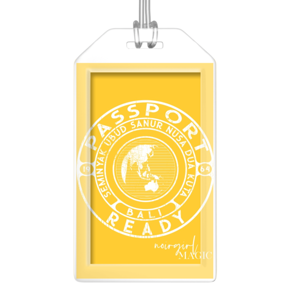 Passport Ready Bali Luggage Tags Yellow