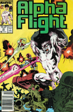 Alpha Flight #51 - Jim Lee first Marvel Credit