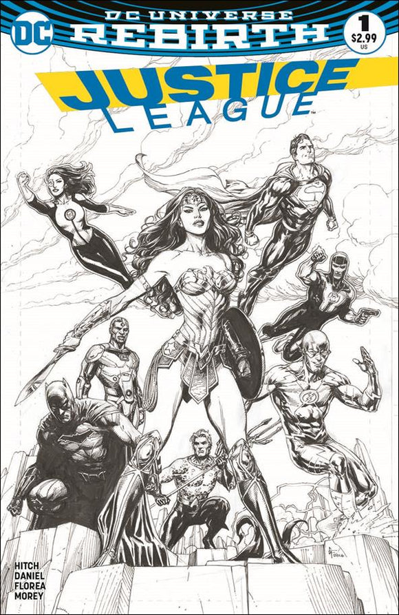 Justice League (2016) # 1 Fried Pie Gary Frank B&W Variant