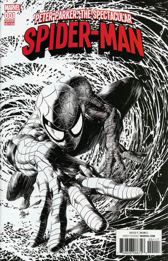 Peter Parker: The Spectacular Spider-Man (2017) # 1 Mike Deodato Party Sketch Variant