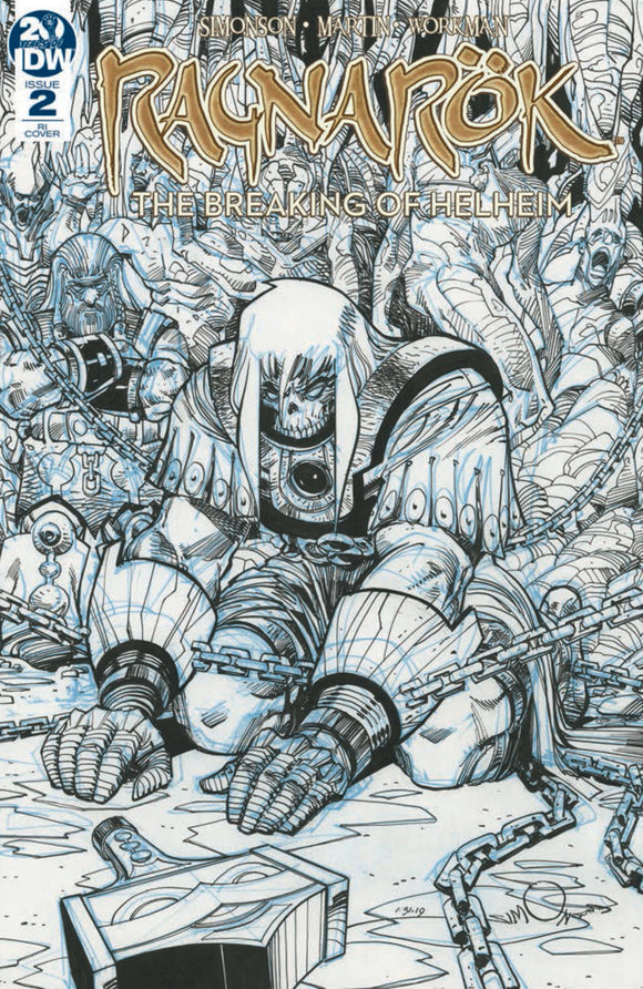 Ragnarok: The Breaking of Helheim (2019) #2 (of 6) Walter Simonson Sketch Variant