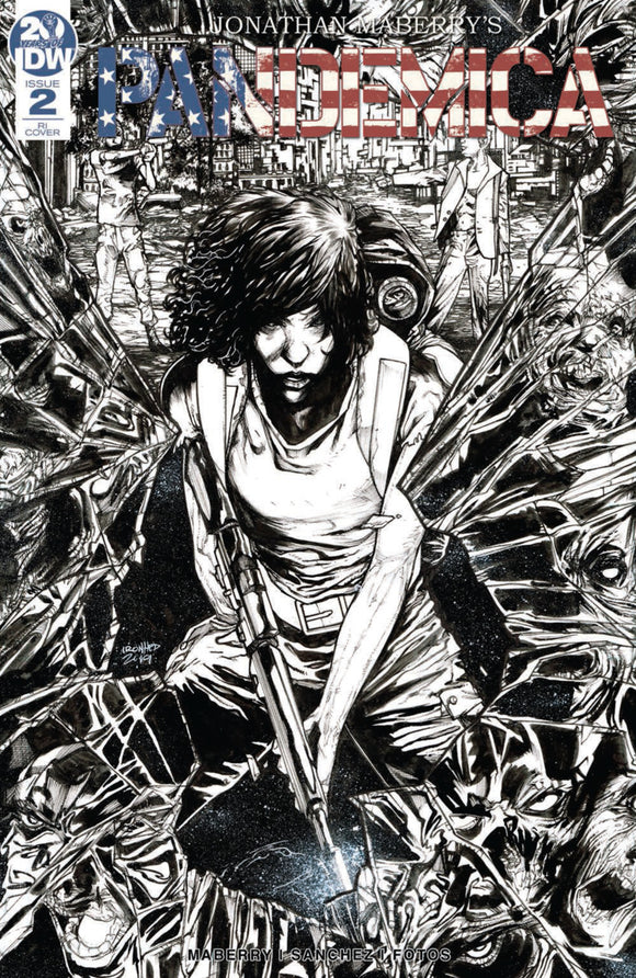 Pandemica (2019) #2 (of 5) B&W Retailer Incentive Variant