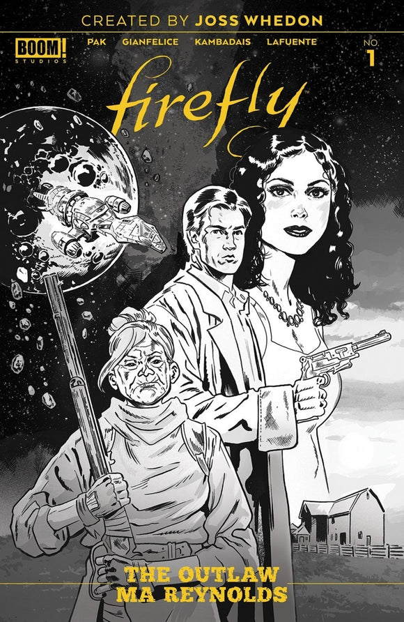 Firefly: The Outlaw Ma Reynolds (2020) #1 Michael Walsh B&W Variant