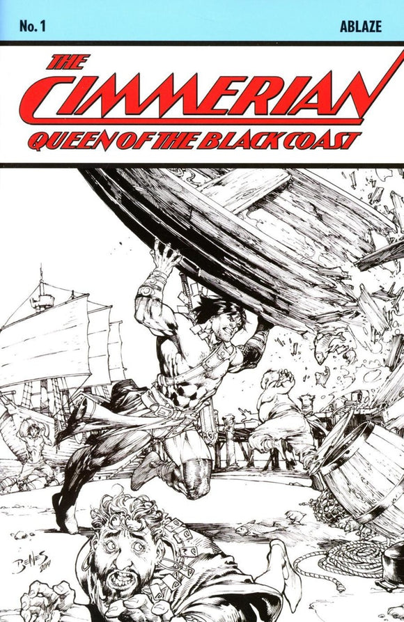 Cimmerian: Queen of the Black Coast (2020) # 1 Ed Benes B&W Variant