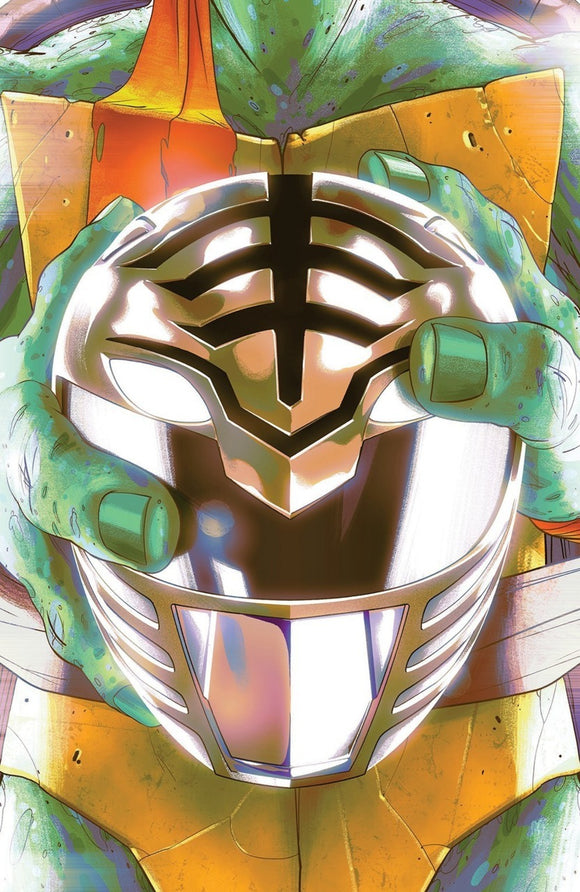 Mighty Morphin Power Rangers/Teenage Mutant Ninja Turtles (2019) #4 (of 5) Goñi Montes White Helmet Variant