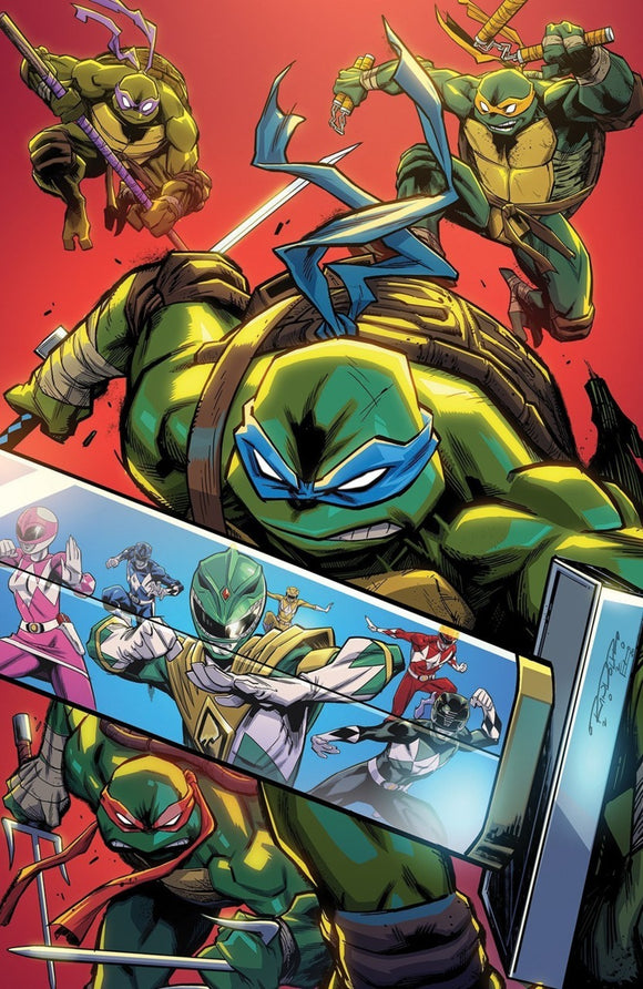 Mighty Morphin Power Rangers/Teenage Mutant Ninja Turtles (2019) #4 (of 5) Khary Randolph RI Variant