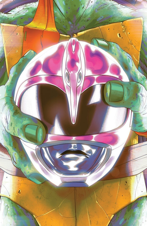Mighty Morphin Power Rangers/Teenage Mutant Ninja Turtles (2019) #4 (of 5) Goñi Montes Pink Helmet/Michelangelo Variant