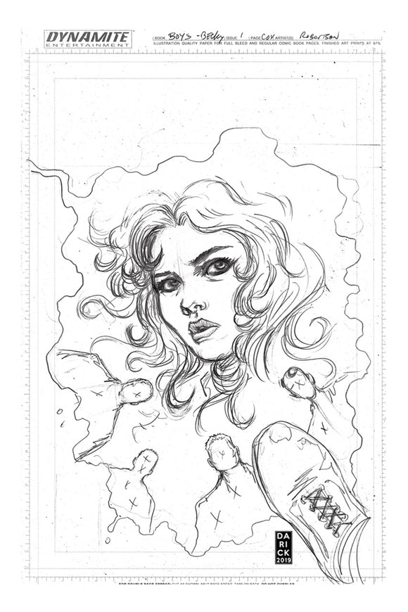 Boys: Dear Becky (2020) #1 Darick Robertson Pure Pencil Variant