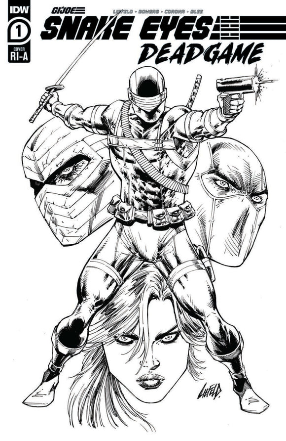 Snake Eyes: Deadgame (2020) #1 Rob Liefeld B&W Variant