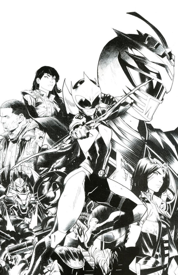Power Rangers: Ranger Slayer (2020) # 1 Dan Mora B&W Virgin Variant