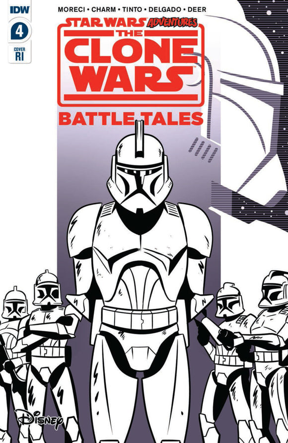 Star Wars Adventures: The Clone Wars-Battle Tales (2020) #4 (of 5) RI Variant