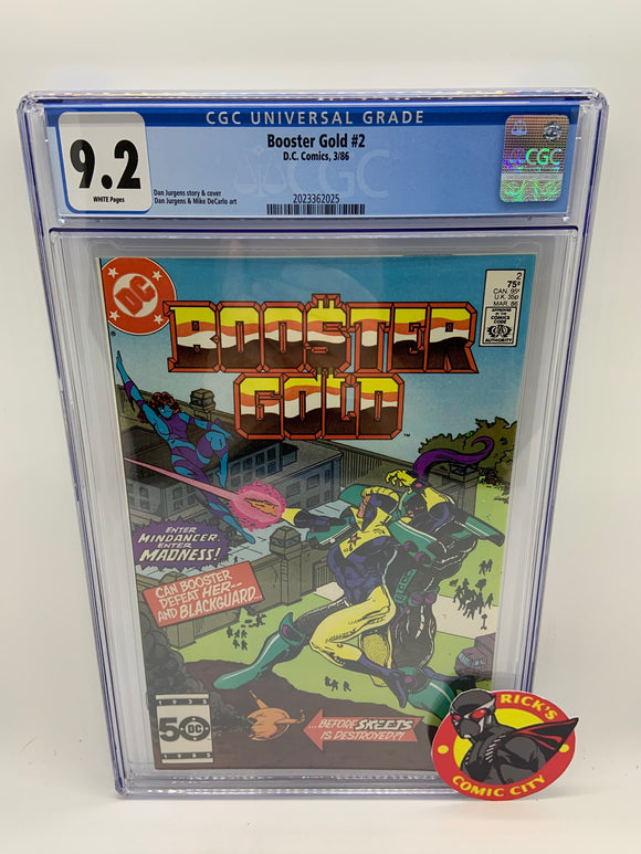 Booster Gold (1986) # 2 CGC Graded 9.2