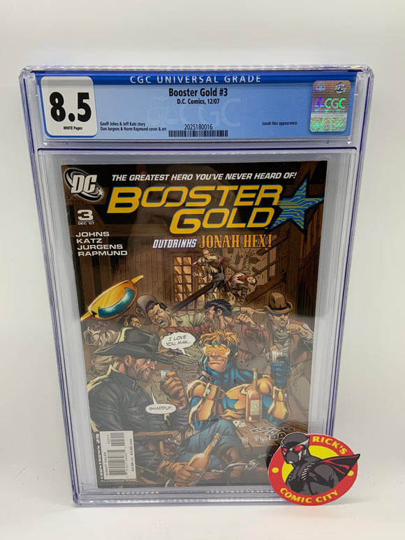 Booster Gold (2007) # 3 CGC Graded 8.5