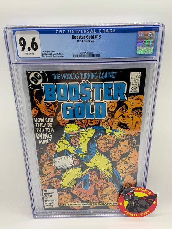 Booster Gold (1986) #13 CGC Graded 9.6