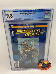 Booster Gold: Futures End (2014) #1 3D Lenticular Cover CGC Graded 9.8