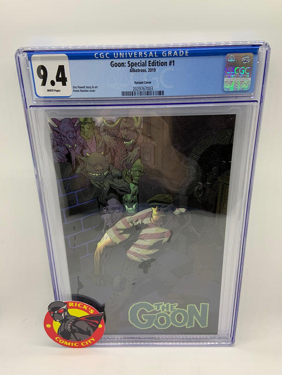 Goon (2019) # 1 Special Cardstock Variant CGC Graded 9.4