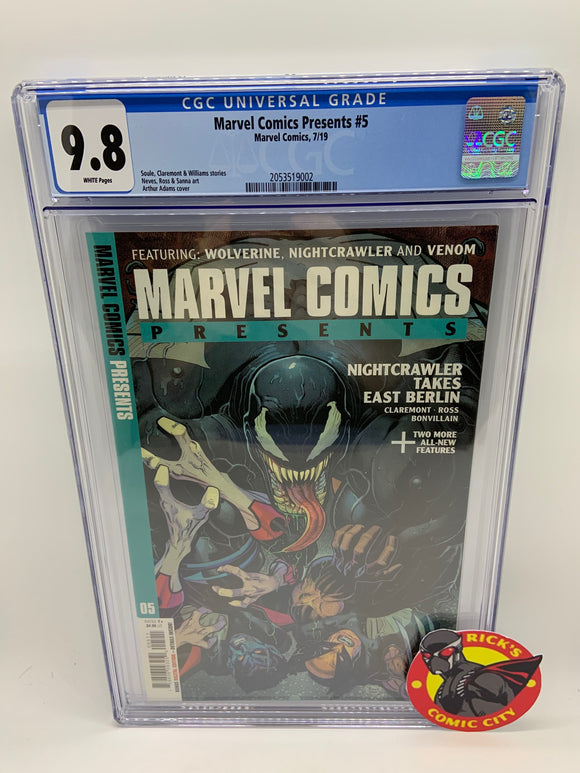 Marvel Comics Presents (2019) # 5 CGC Graded 9.8