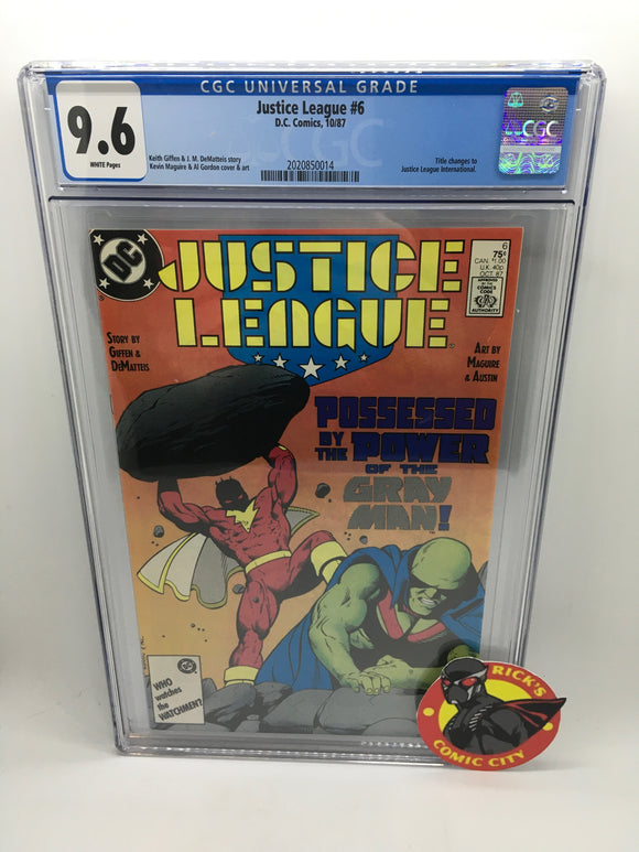 Justice League (1987) # 6 CGC Graded 9.6