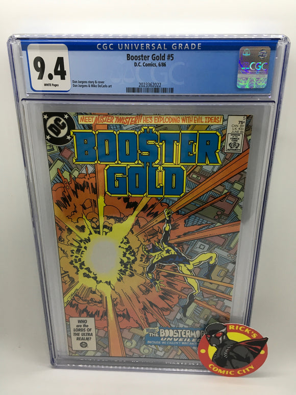 Booster Gold (1986) # 5 CGC Graded 9.4