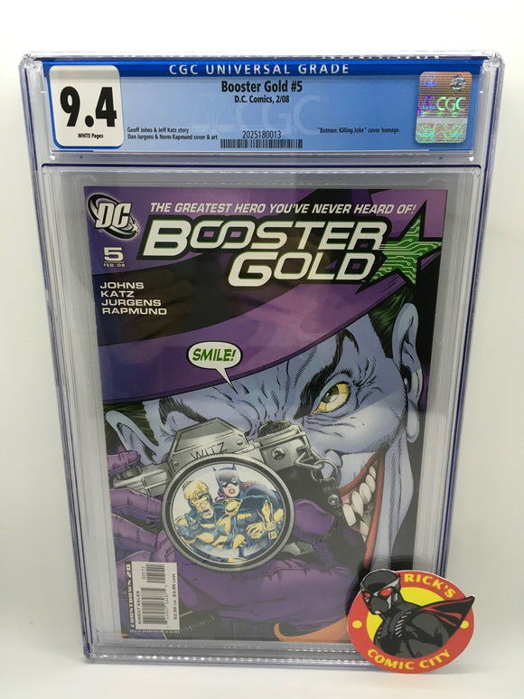 Booster Gold (2007) # 5 CGC Graded 9.4