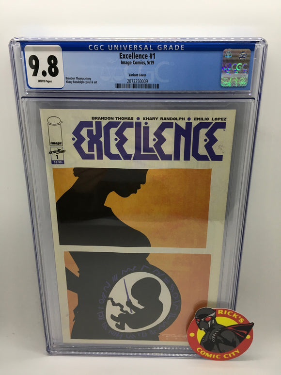 Excellence (2019) # 1 Visions of Excellence Variant CGC Graded 9.8