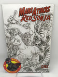 Mars Attacks/Red Sonja (2020) #1 Alan Quah B&W Variant