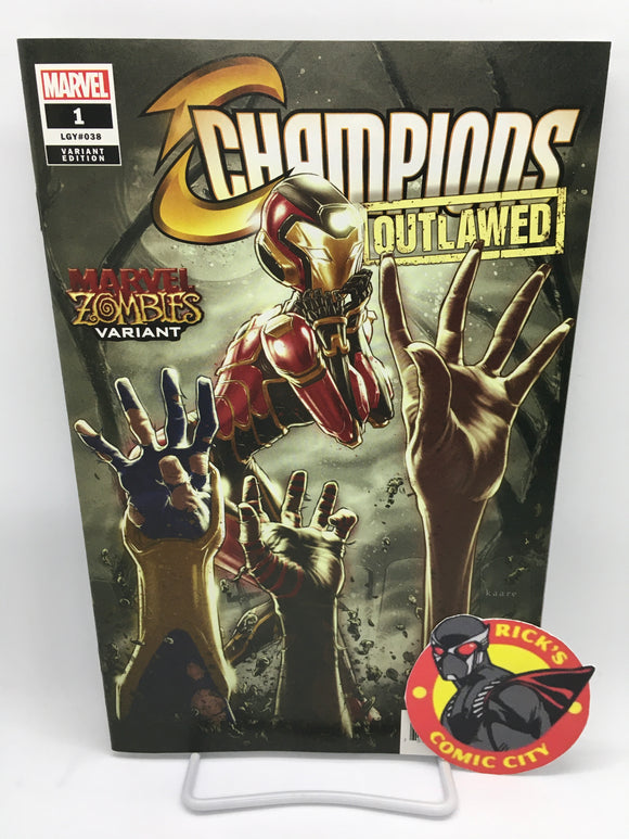 Champions (2020) #1 (of 5) Kaare Andrews Marvel Zombies Variant