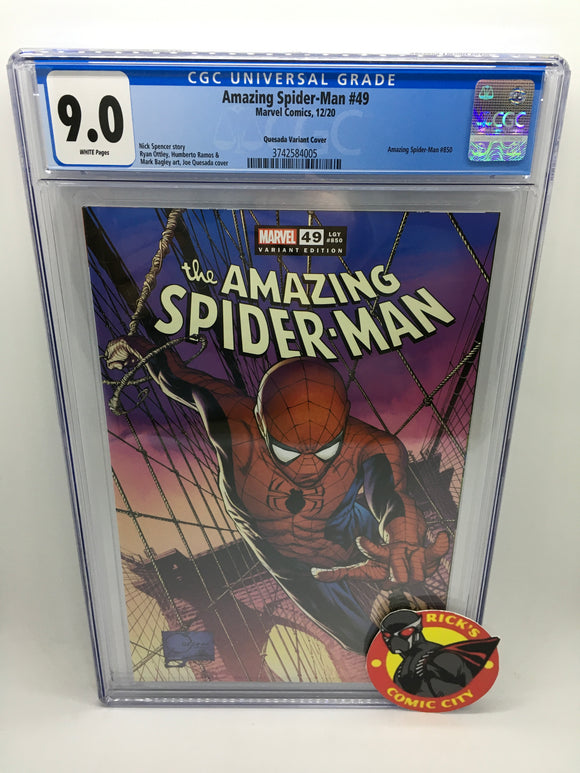 Amazing Spider-Man (2018) #49 Joe Quesada Variant CGC Graded 9.0