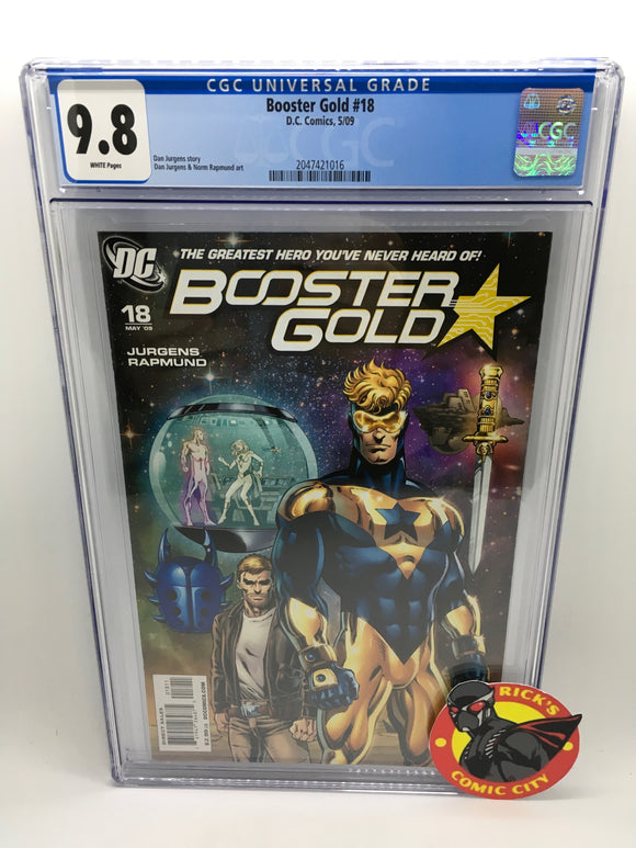 Booster Gold (2007) #18 CGC Graded 9.8