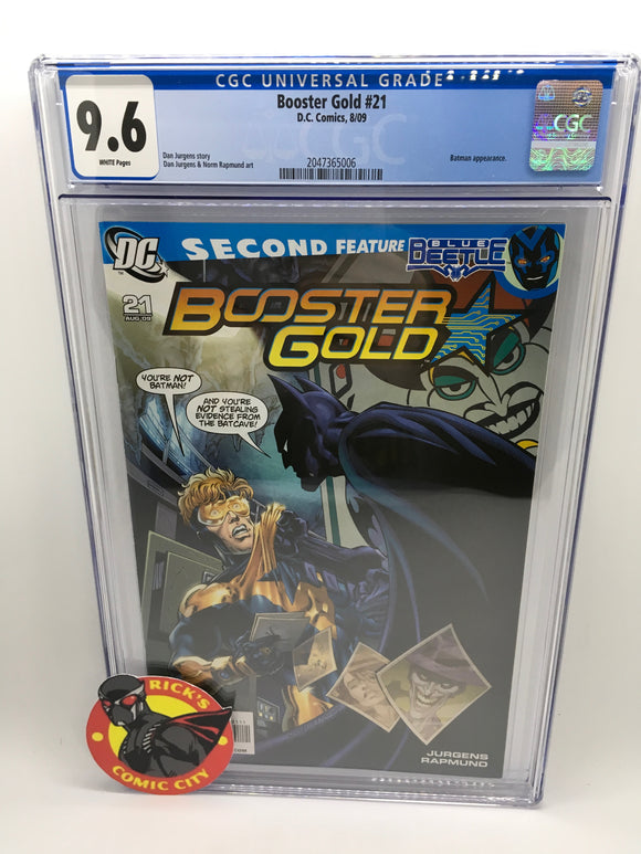 Booster Gold (2007) #21 CGC Graded 9.6