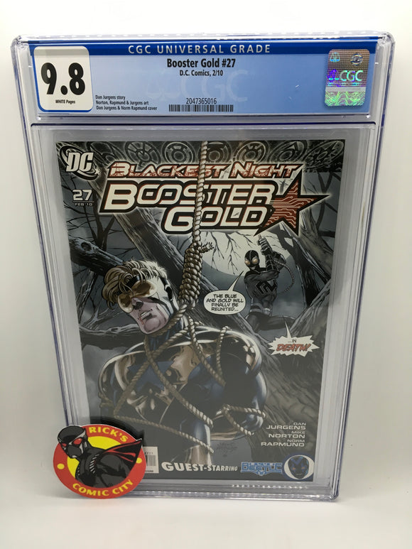 Booster Gold (2007) #27 CGC Graded 9.8