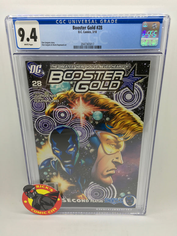 Booster Gold (2007) #28 CGC Graded 9.4
