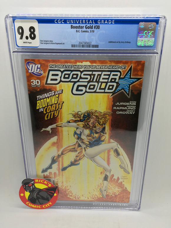 Booster Gold (2007) #30 CGC Graded 9.8
