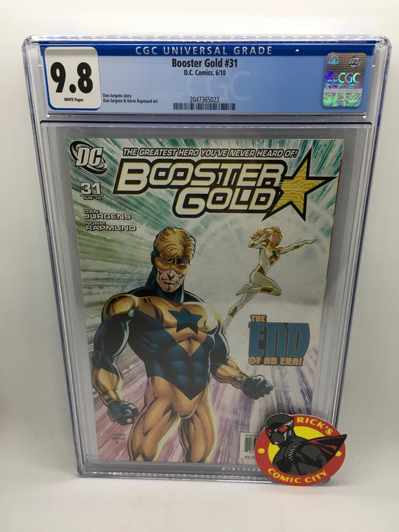 Booster Gold (2007) #31 CGC Graded 9.8