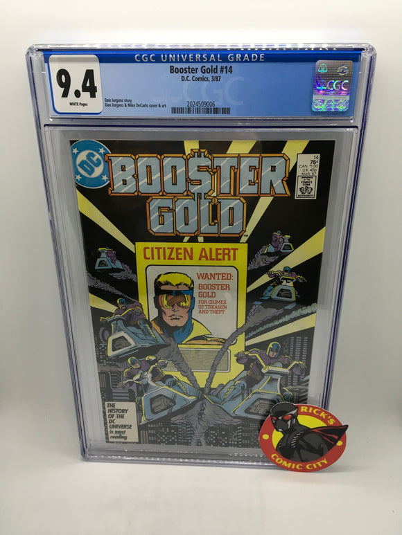 Booster Gold (1986) #14 CGC Graded 9.4