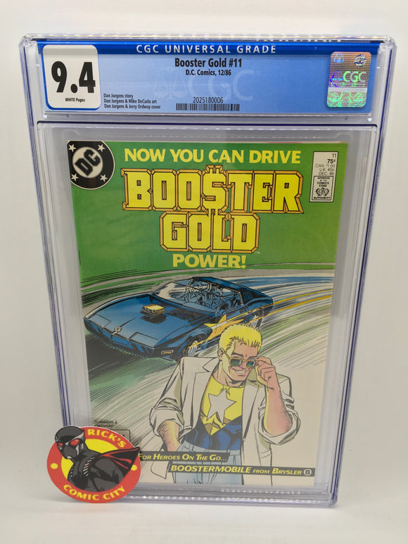 Booster Gold (1986) #11 CGC Graded 9.4