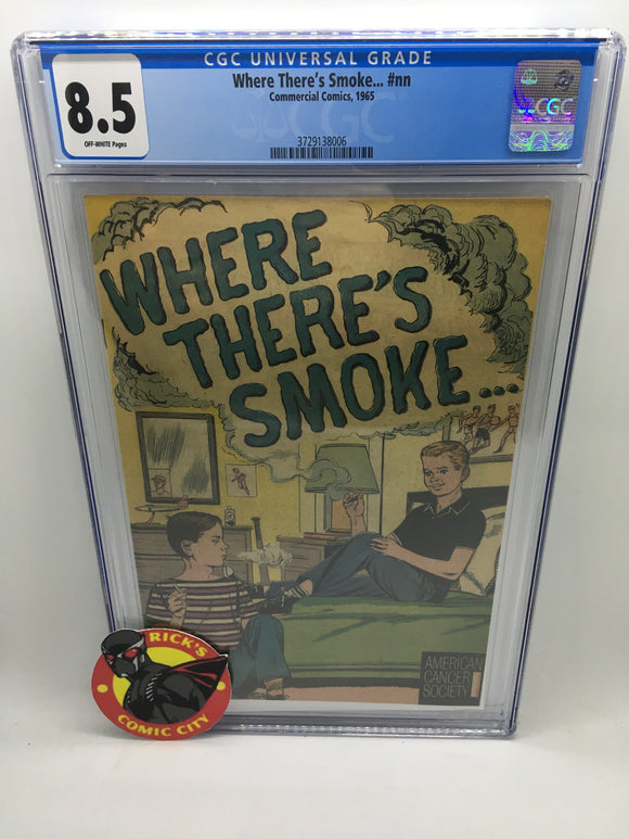 Where There's Smoke (1965) #1 CGC Graded 8.5
