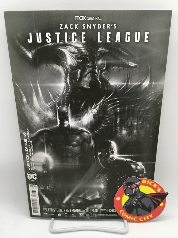 Justice League (2018) #59 Liam Sharp Snyder Cut B&W Variant