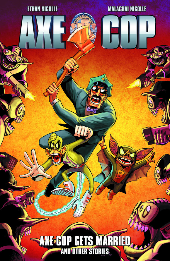 Axe Cop Vol 05: Axe Cop Gets Married & Other Stories TPB Signed by Ethan Nicolle