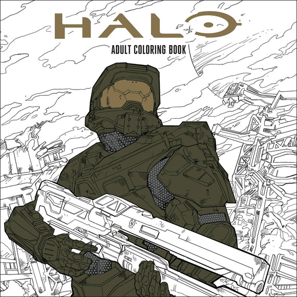 Halo Adult Coloring Book SC