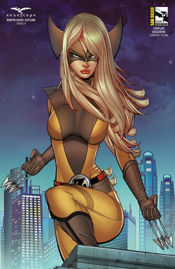 Robyn Hood: Outlaw (2019) #4 (of 6) SDCC 2019 Cosplay Brown & Yellow Variant