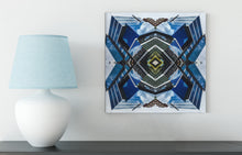 Canvas Print: The Blue Diamond Mandala