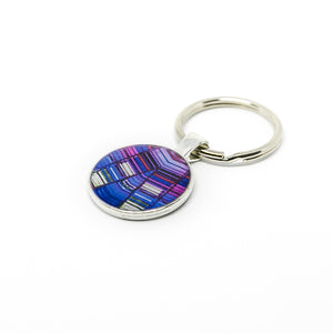 Keychain - Resin Coated - Digital Art - Agbar Tower - Purple