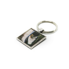 Keychain - Resin Coated - Digital Art - Museum of Pop Culture Seattle - Metallic Square