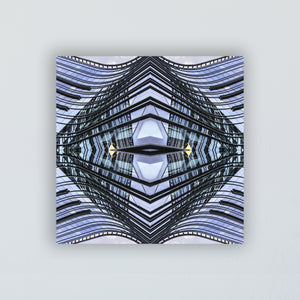 Mounted Print: The Blue Line Mandala